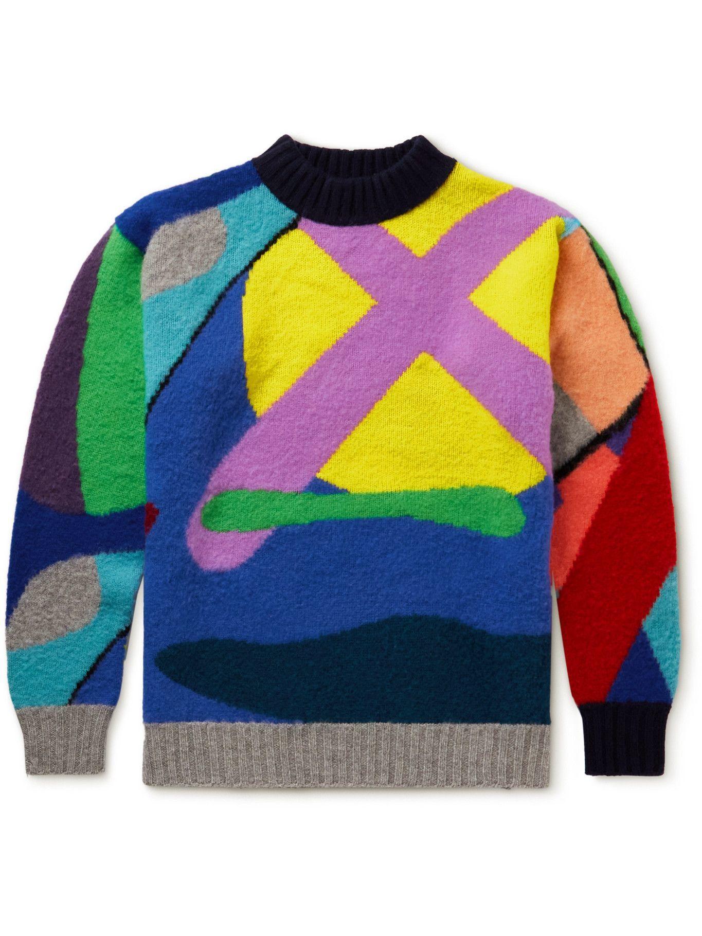 Photo: Sacai - KAWS Wool-Jacquard Sweater - Multi