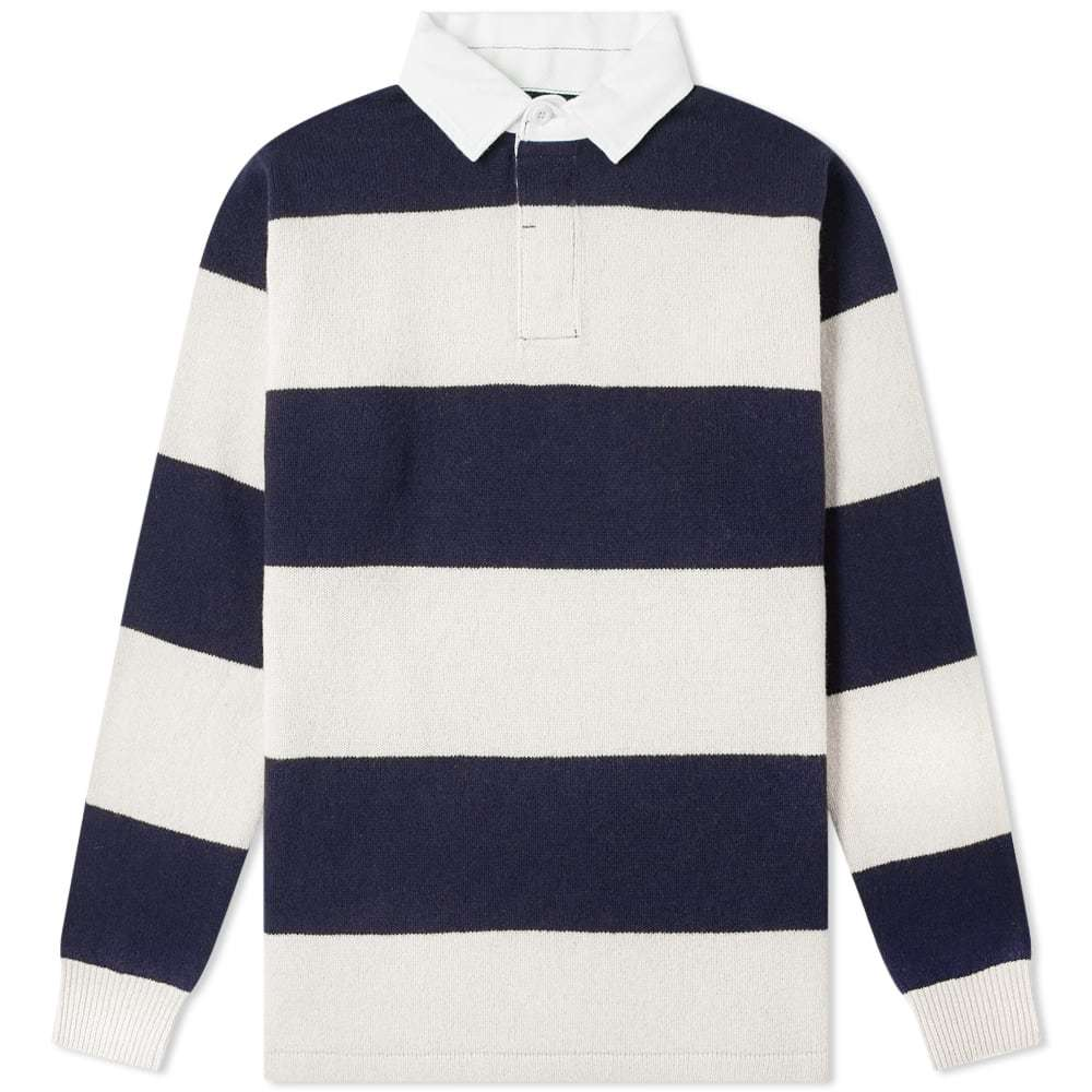 Photo: Beams Plus Knitted Stripe Rugby Shirt