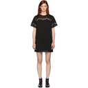 3.1 Phillip Lim Black Lace Insert T-Shirt Dress