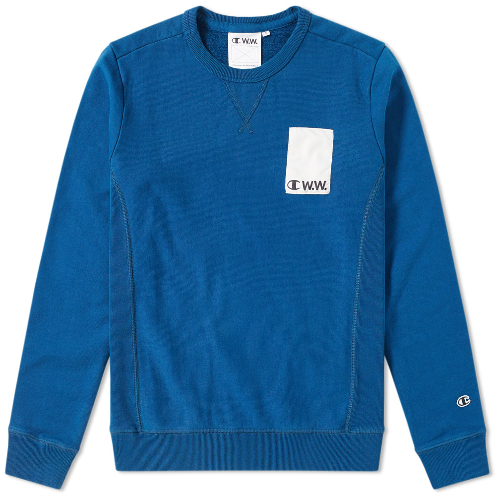 Photo: Champion x Wood Wood Logo Crew Sweat