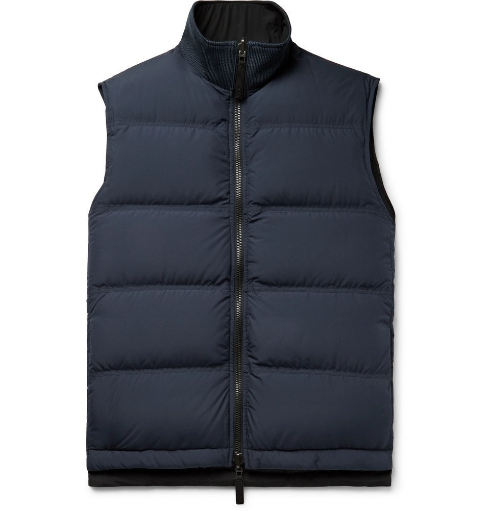 Photo: Berluti - Quilted Shell Down Gilet - Navy