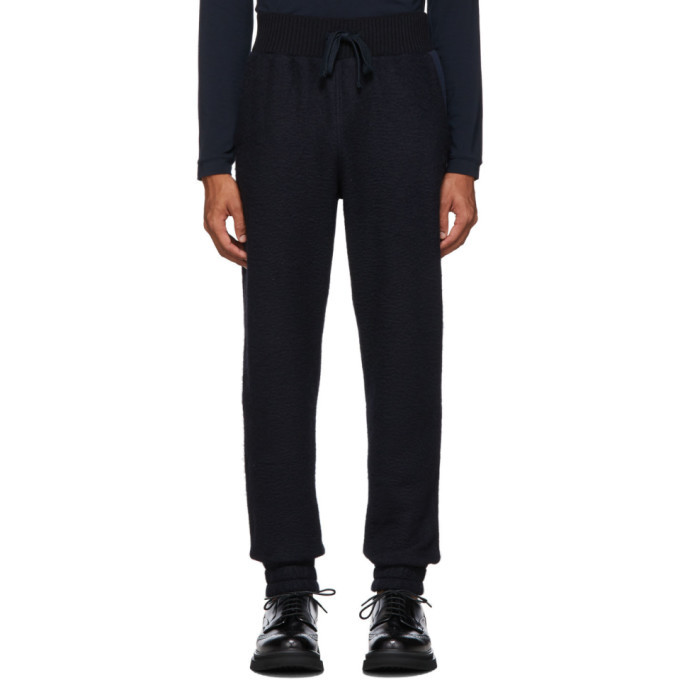 Photo: Ermenegildo Zegna Navy Wool and Alpaca Lounge Pants