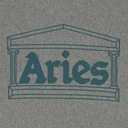 Aries Temple Hooded Sweatshirt Grey Marl