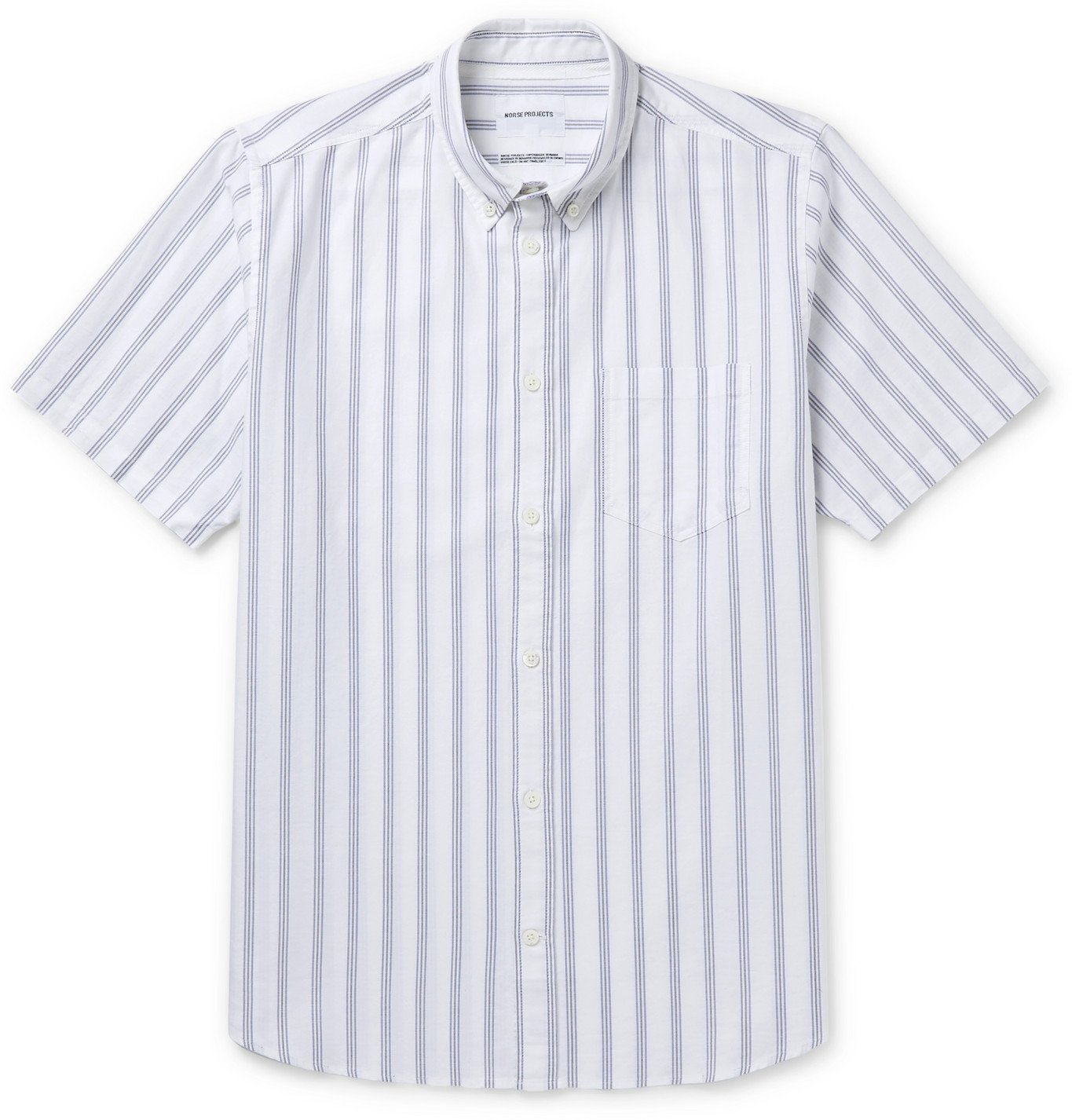 Photo: Norse Projects - Theo Buttton-Down Collar Striped Cotton Oxford Shirt - Blue