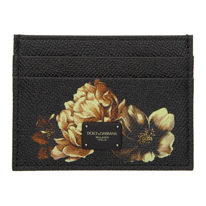 Photo: Dolce and Gabbana Black Flower Card Holder