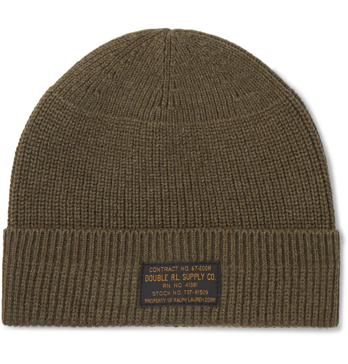RRL - Ribbed Cotton Beanie - Green