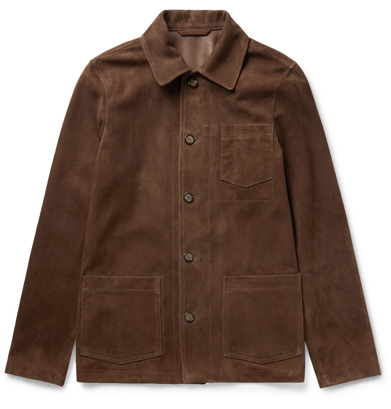 Photo: Valstar - Suede Chore Jacket - Brown