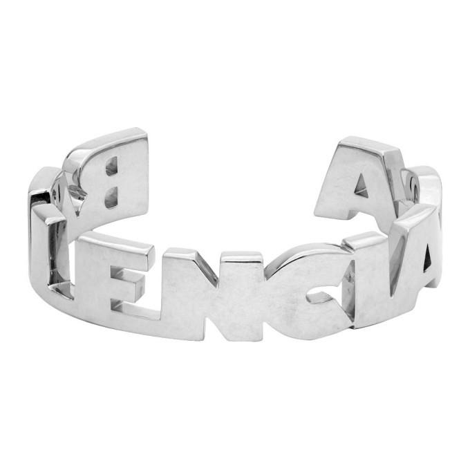 Photo: Balenciaga Silver Typo Bracelet