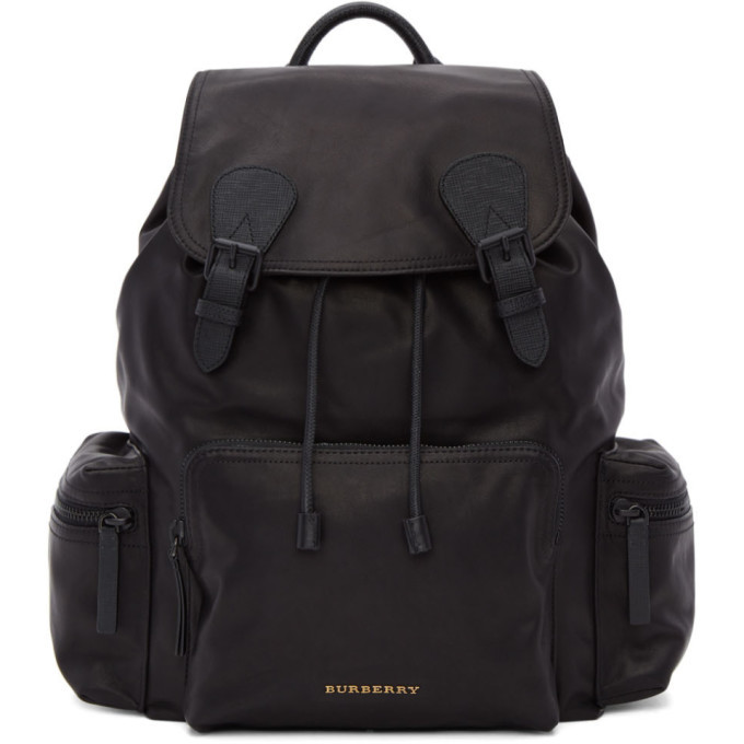 Photo: Burberry Black Large Leather Rucksack