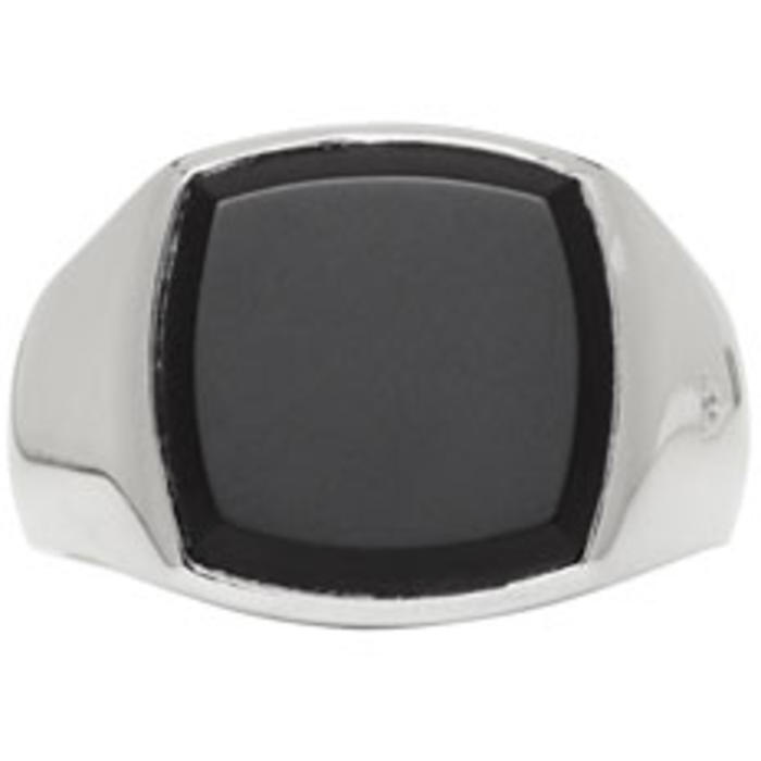 Photo: Tom Wood Silver and Black Onyx Cushion Ring