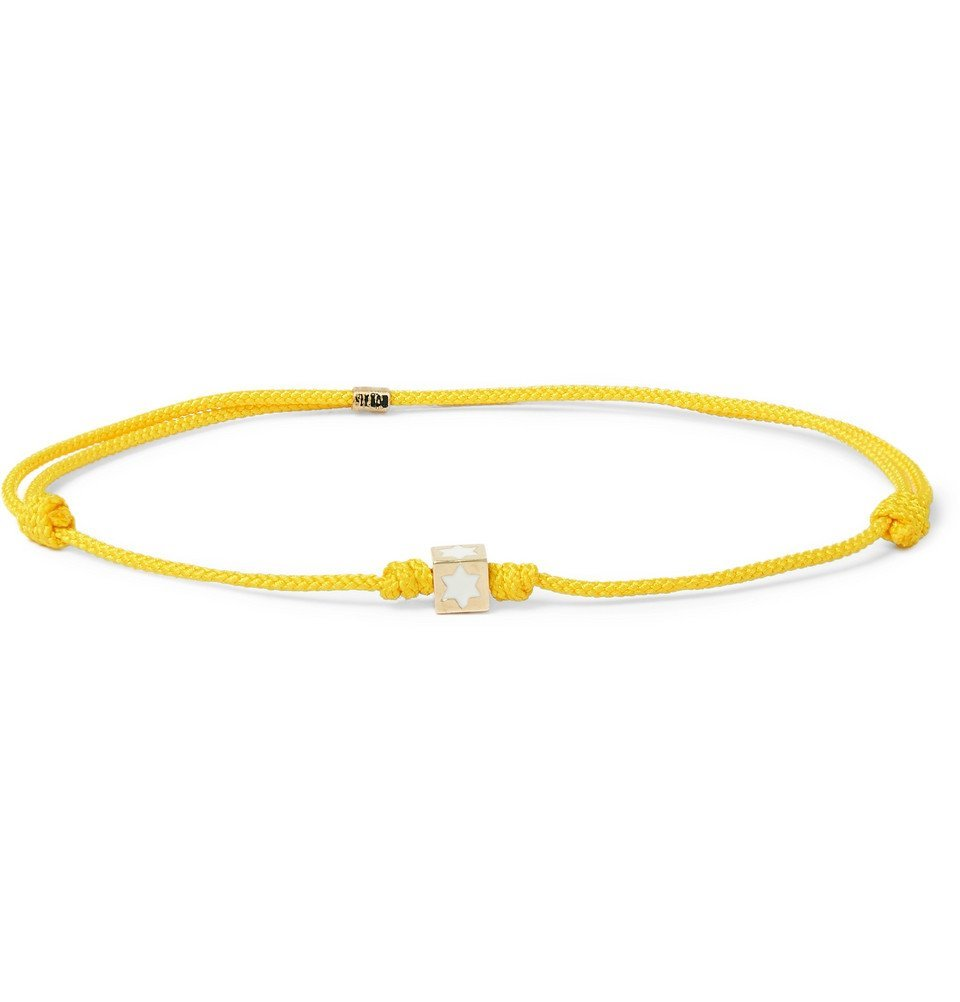 Photo: Luis Morais - Cord and 14-Karat Gold Bracelet - Yellow