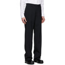 Raf Simons Black Wool Straight-Fit Trousers