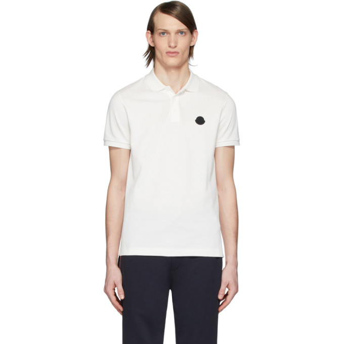 Photo: Moncler White Logo Polo