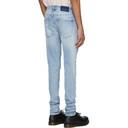 Ksubi Blue Van Winkle Punk Blue Trashed Jeans