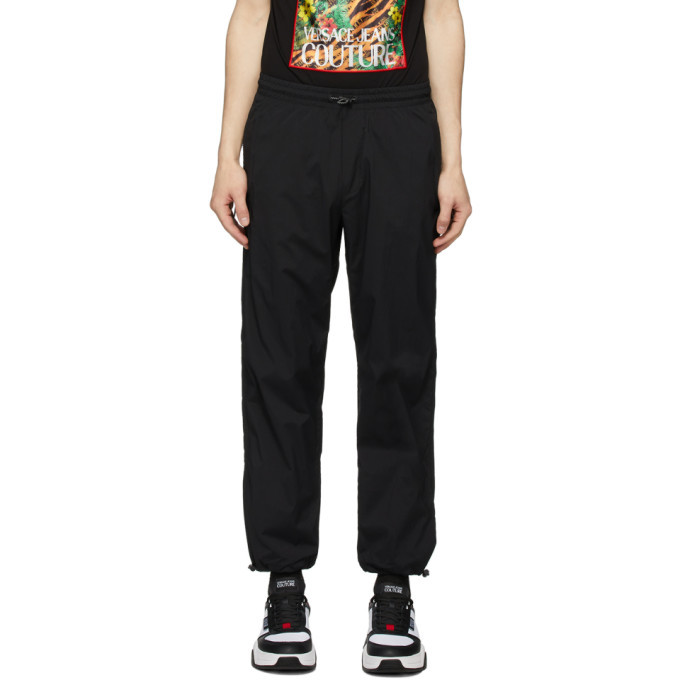 Photo: Versace Jeans Couture Black Gabardine Lounge Pants