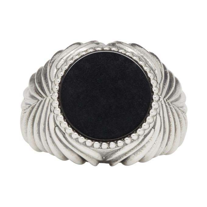 Photo: Emanuele Bicocchi Silver and Black Stone Ring