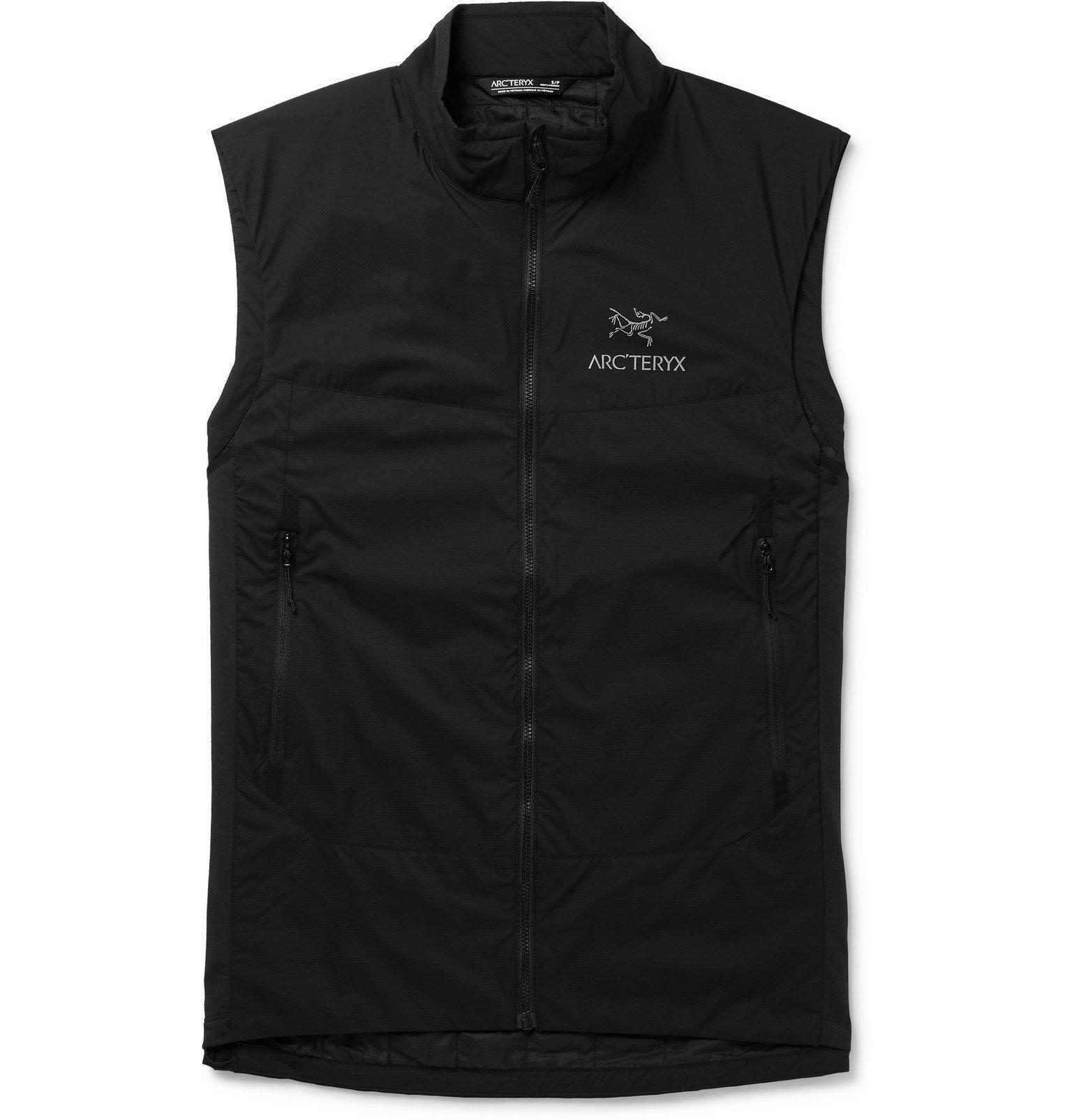 Photo: Arc'teryx - Atom SL Slim-Fit Jersey-Panelled Ripstop Padded Gilet - Black