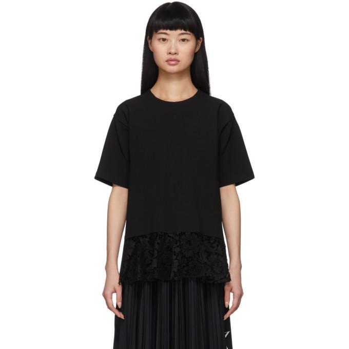Photo: Valentino Black Lace T-Shirt Blouse
