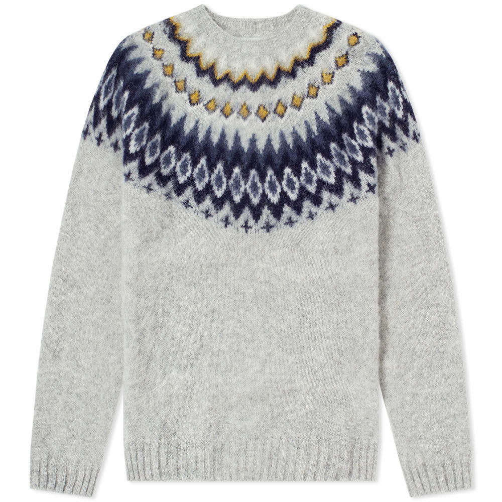Photo: Norse Projects Birnir Fair Isle Crew Knit