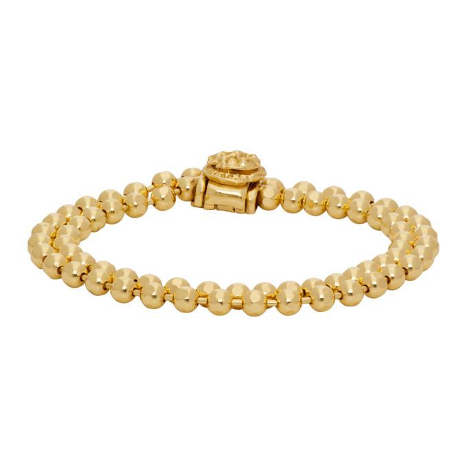 Photo: Emanuele Bicocchi SSENSE Exclusive Gold Double Beaded Bracelet