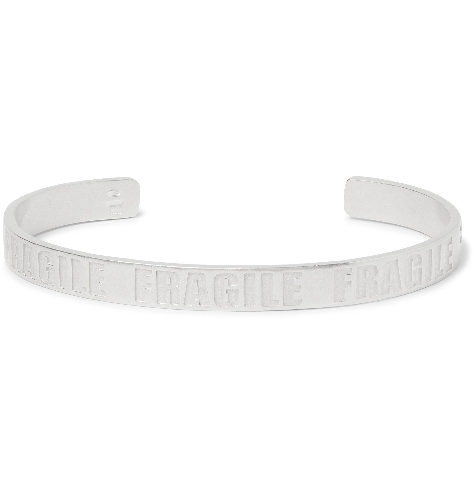 Photo: Maison Margiela - Stamped Sterling Silver Cuff - Silver