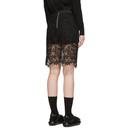 Sacai Black Embroidered Miniskirt