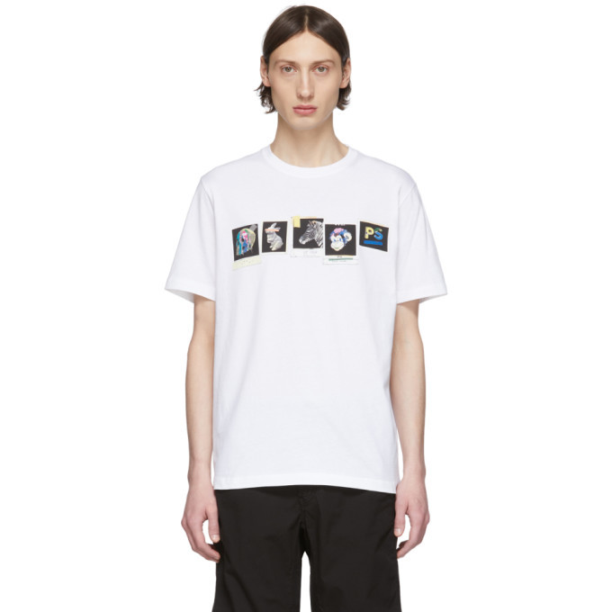 Photo: PS by Paul Smith White PS Club Photos T-Shirt