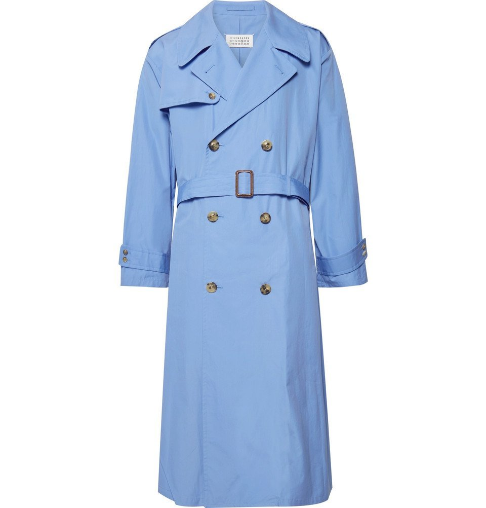 Photo: Maison Margiela - Cotton-Poplin Trench Coat - Light blue