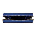 Smythson Blue Panama Zip Coin Purse
