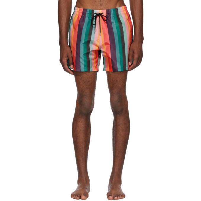 Photo: Paul Smith Multicolor Artist Stripe Swim Shorts