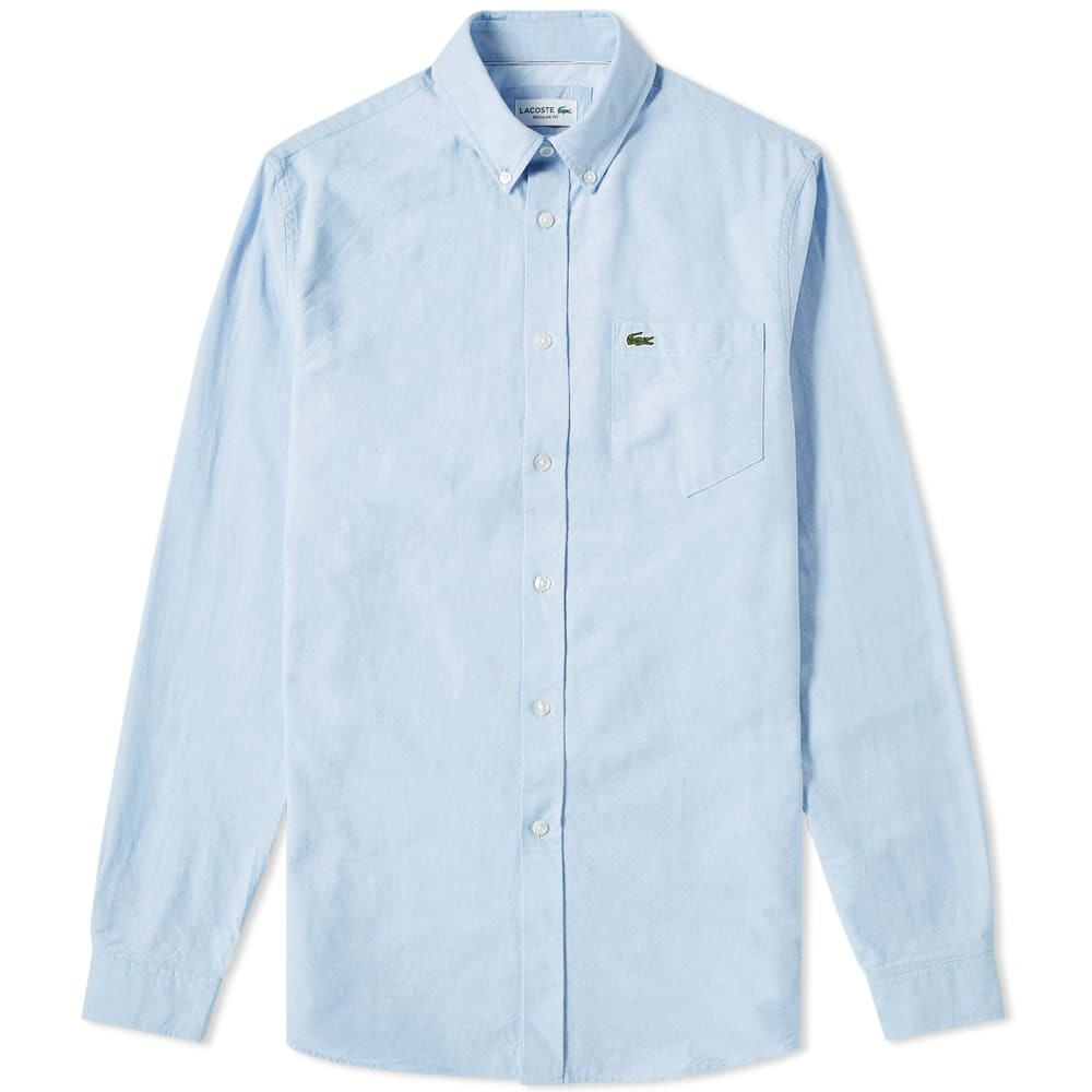 Photo: Lacoste Button Down Oxford Shirt Sky