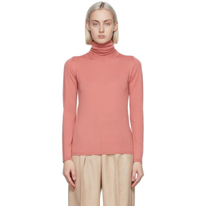 Max Mara Pink Wool Candore Turtleneck