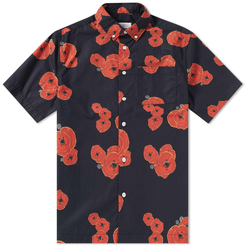 Photo: Saturdays NYC Short Sleeve Bruce Floater Shirt