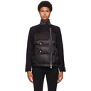 Sacai Navy Wool Puffer Jacket
