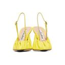 Acne Studios Yellow Leather Beatrice Slingback Heels