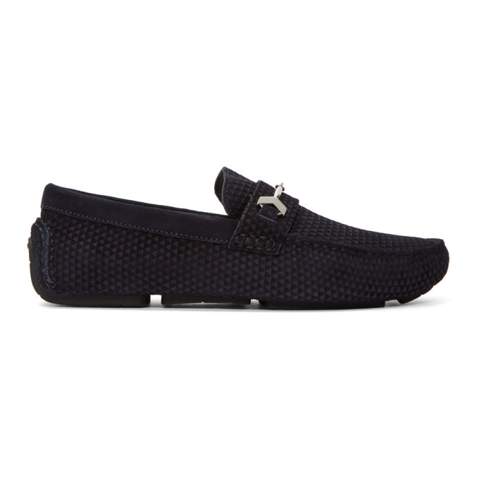 Photo: Jimmy Choo Navy Suede Brewer Loafers