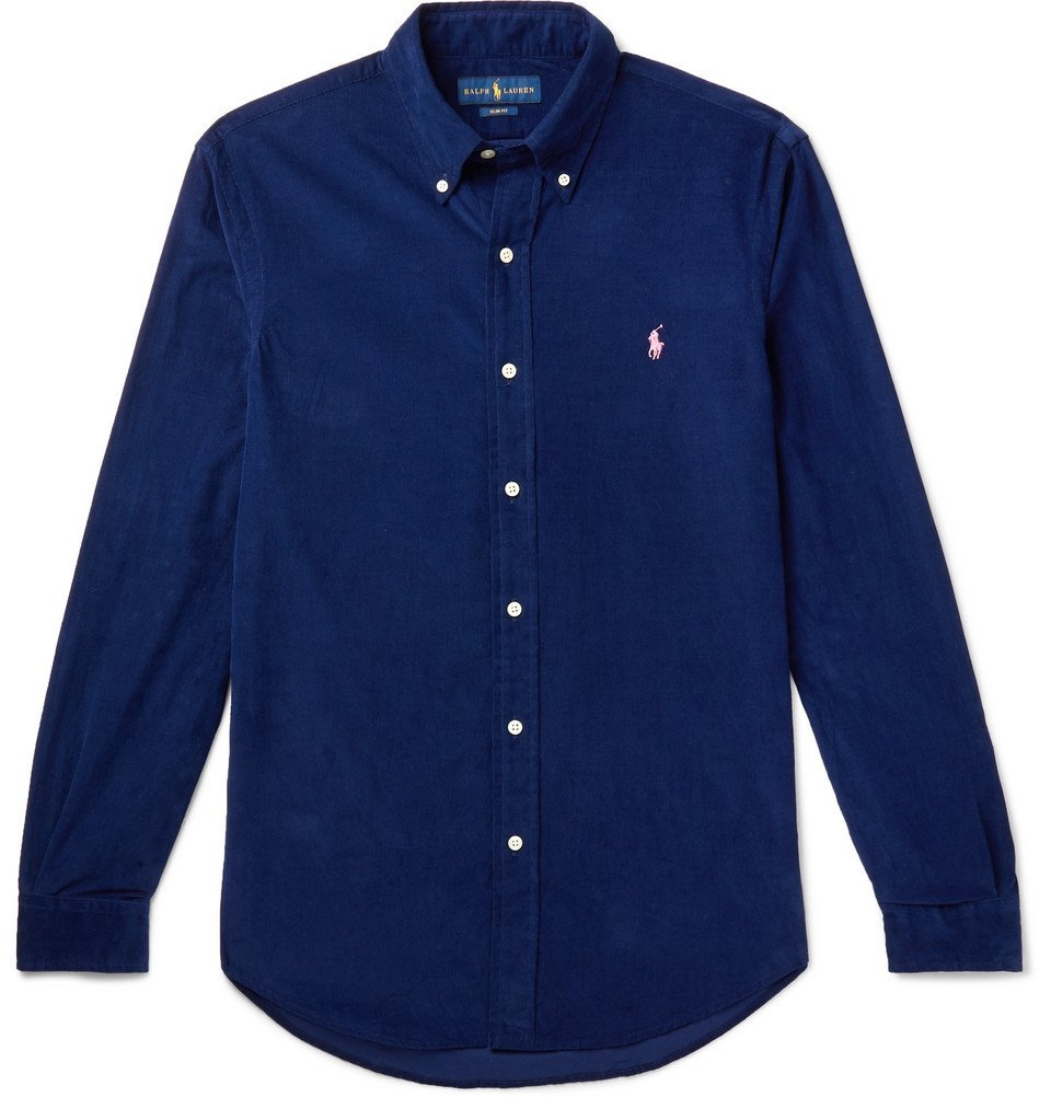 Photo: Polo Ralph Lauren - Button-Down Collar Cotton-Corduroy Shirt - Men - Blue