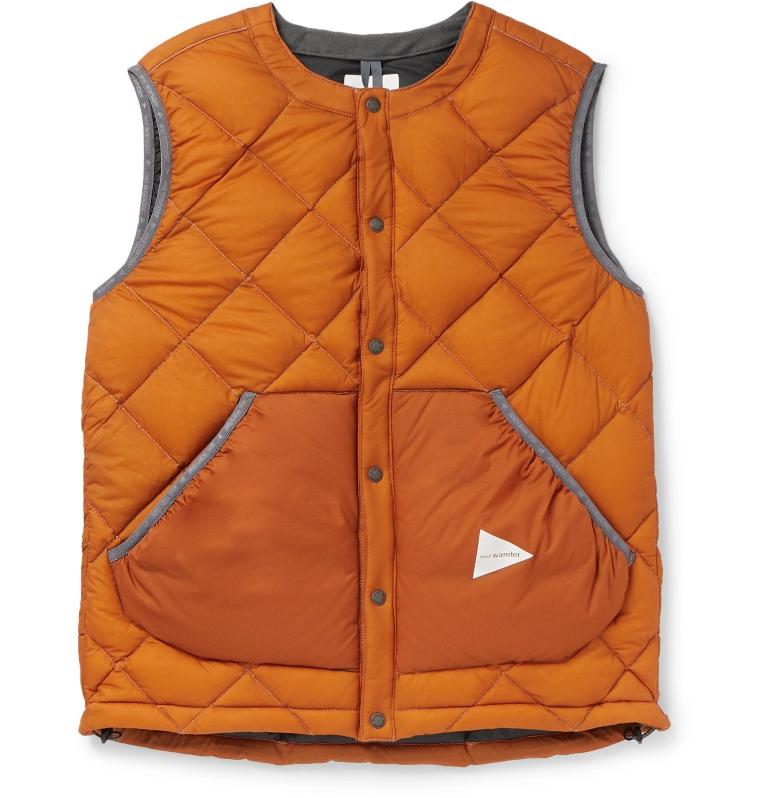 Photo: And Wander - Quilted Nylon Down Gilet - Orange