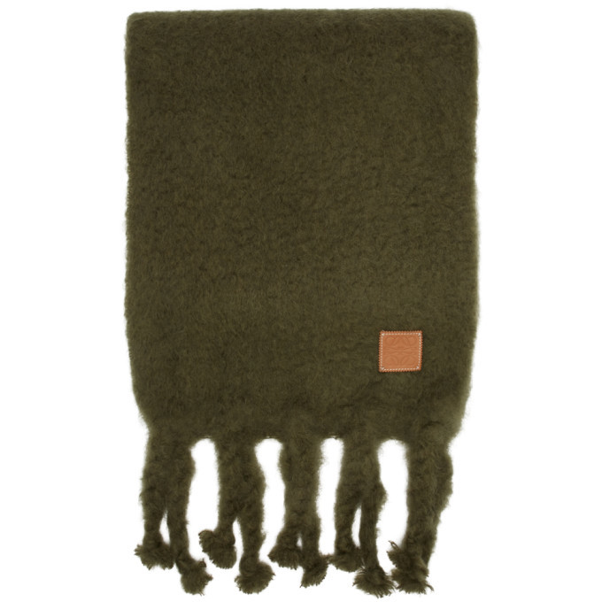 Photo: Loewe Green William De Morgan Mohair Scarf