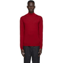 Dunhill Red Harness High Neck Sweater