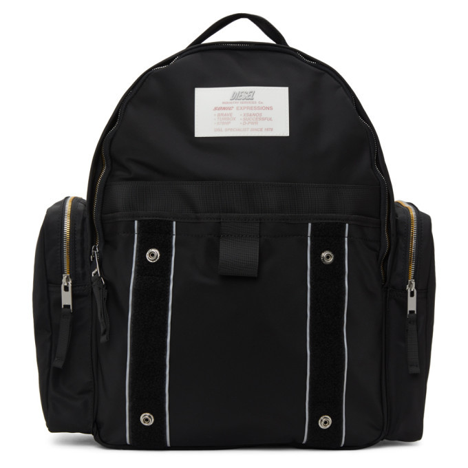 Photo: Diesel Black Nylon Bisie Backpack