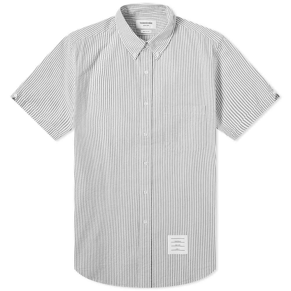 Photo: Thom Browne Button Down Seersucker Short Sleeve Shirt