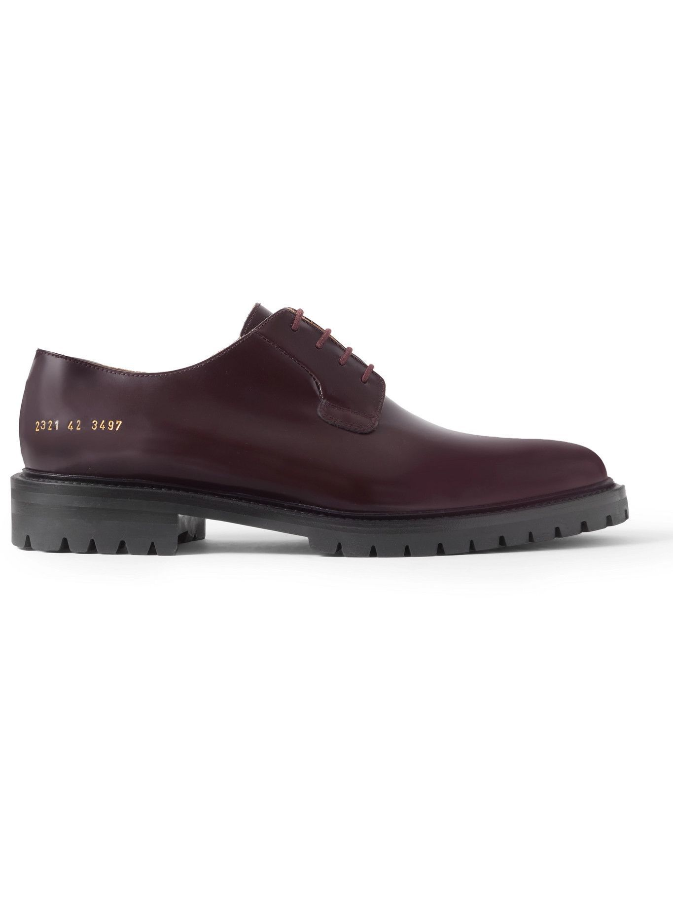 Common Projects - Leather Derby Shoes - Burgundy