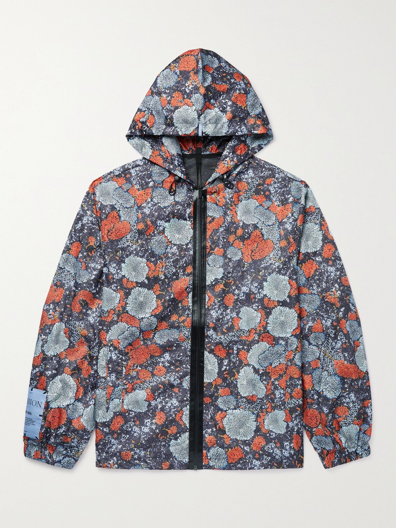 MCQ - Albion Appliquéd Printed Shell Hooded Jacket - Orange