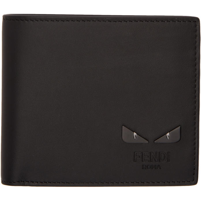 Photo: Fendi Black Bag Bugs Bifold Wallet