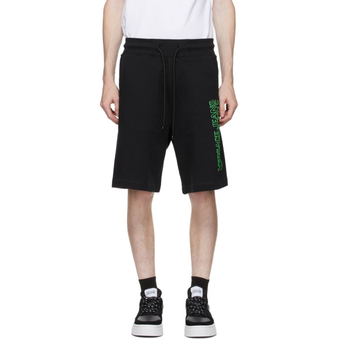 Photo: Versace Jeans Couture Black Logo Sweat Shorts