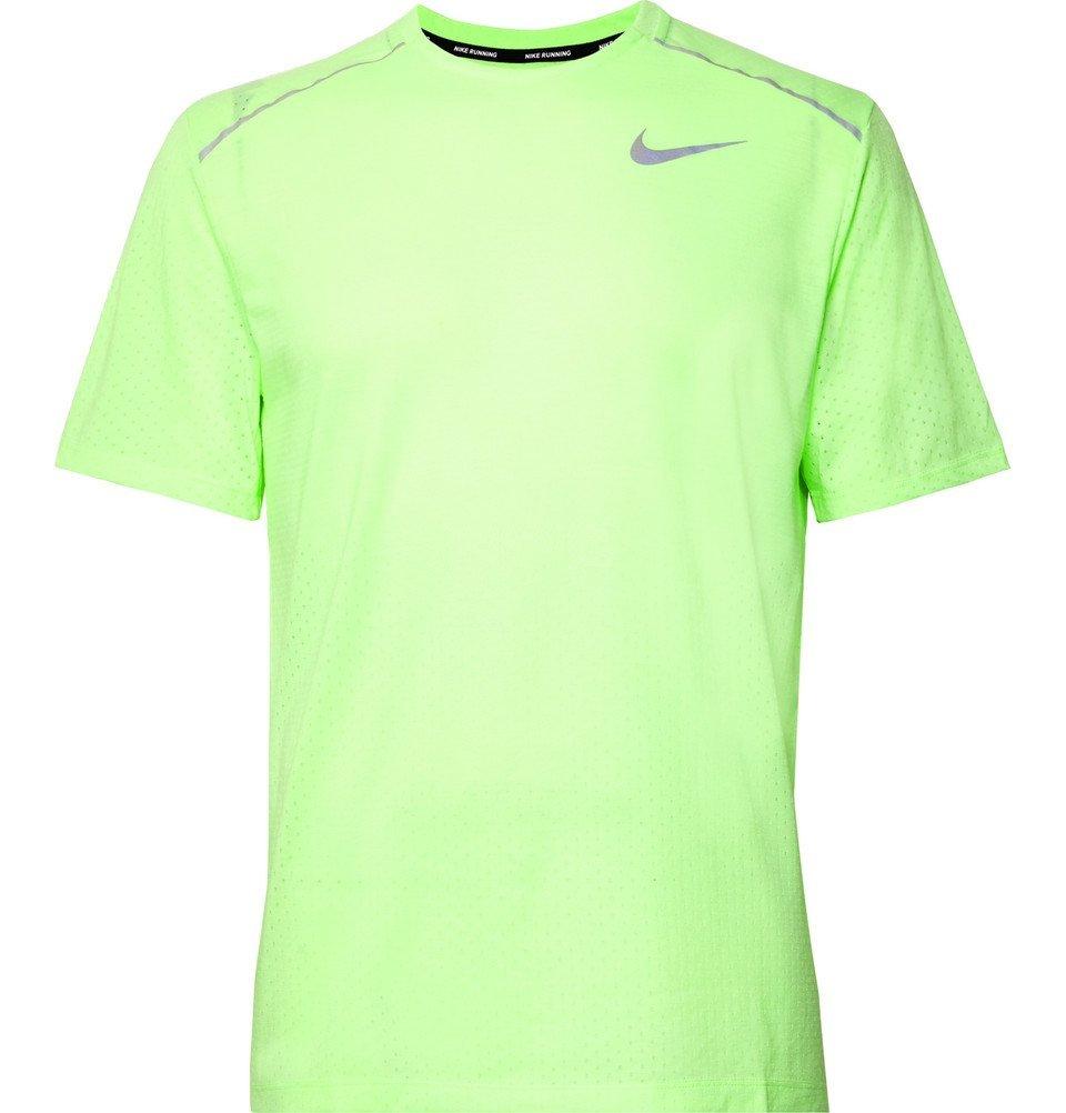 Nike Running - Rise 365 Perforated Breathe Dri-FIT T-Shirt - Men - Bright green