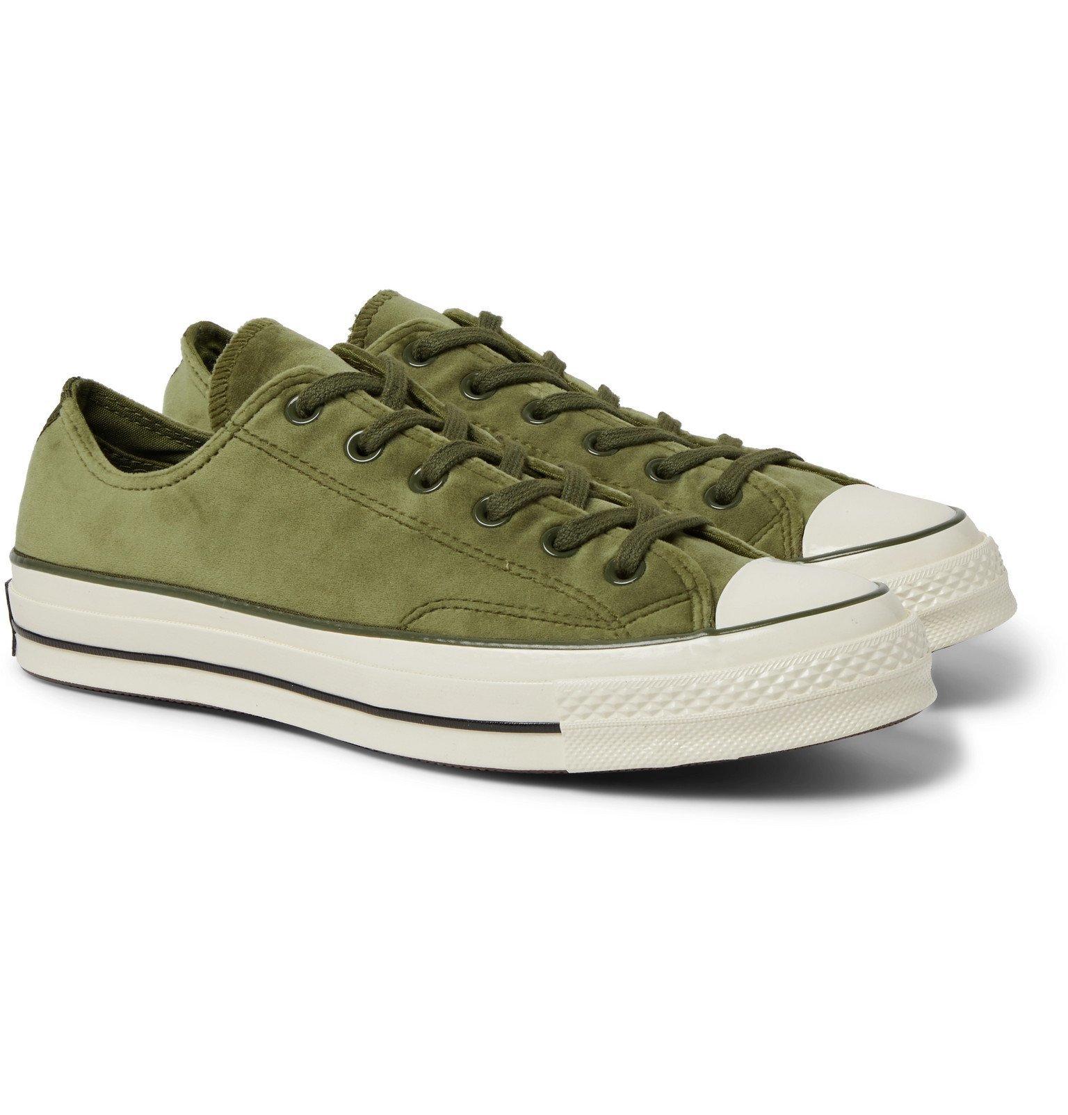 Photo: Converse - Chuck 70 OX Velvet Sneakers - Green