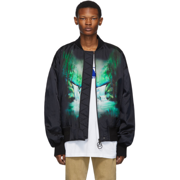 Photo: Off-White Black Waterfall Bomber Jacket