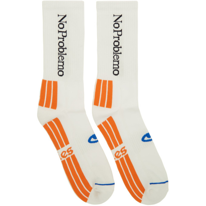 Photo: Aries White No Problemo Socks